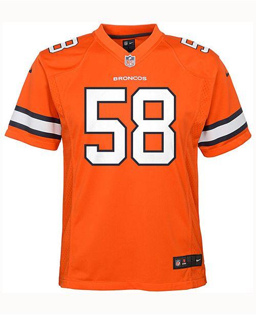 Nice Nike Von Miller Denver Broncos Color Rush Jersey, Big Boys (8 20  free shipping