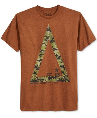 Univibe Men's Graphic-Print with Camo T-Shirt