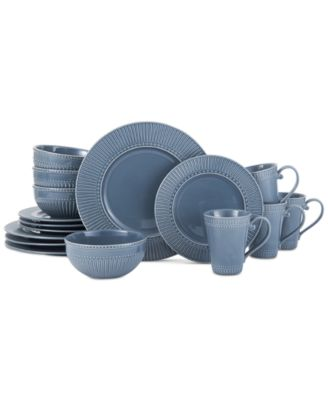 Italian Countryside Blue 16-Piece Dinnerware Set, Service for 4