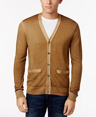 Michael Kors Men's Merino Wool Cardigan - Sweaters - Men - Macy's