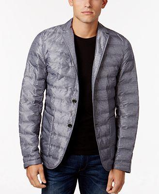 Michael Kors Men's Channel Quilted Blazer - Coats & Jackets - Men ... : mens quilted sport coat - Adamdwight.com