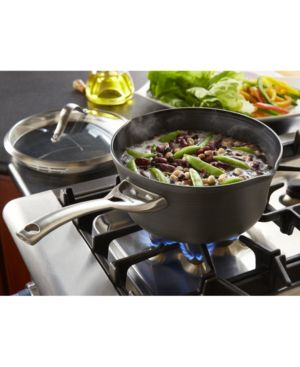 Calphalon Contemporary Nonstick 3.5 Qt. Pour and Strain Covered Saucepan 849598