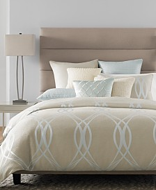 CLOSEOUT! Hotel Collection Ogee Bedding Collection, Created for Macy's