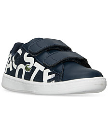 Lacoste Toddler Boys' Carnaby EVO Logo Casual Sneakers from Finish Line