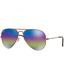 Ray-Ban ORIGINAL AVIATOR RAINBOW MIRRORED Sunglasses, RB3025 58