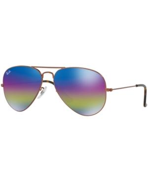 Ray-Ban Sunglasses, RB3025 58 Original Aviator Rainbow Mirro