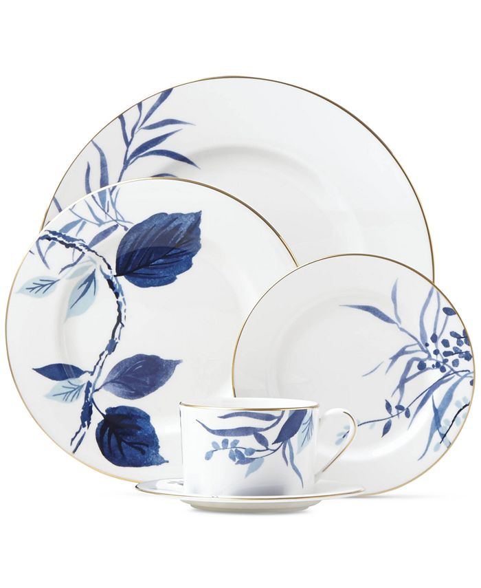 kate spade new york - Birch Way Navy Collection 5-Piece Place Setting