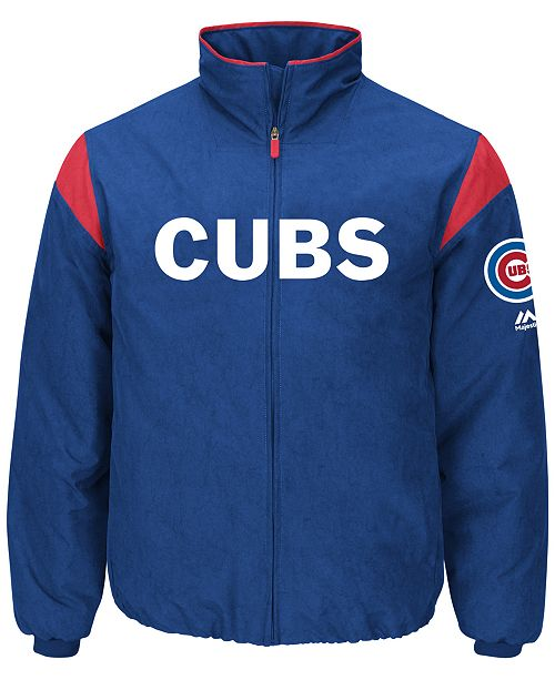 0081ef00b52 Majestic Men s Chicago Cubs On-Field Thermal Jacket   Reviews ...