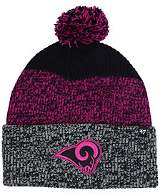'47 Brand Los Angeles Rams Static Cuff Pom Knit Hat