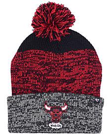 '47 Brand Chicago Bulls Black Static Pom Knit Hat