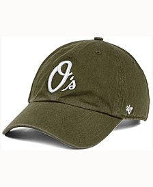 Baltimore Orioles Olive White CLEAN UP Cap