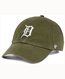 '47 Brand  Detroit Tigers Olive White CLEAN UP Cap