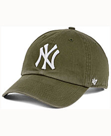 '47 Brand  New York Yankees Olive White CLEAN UP Cap
