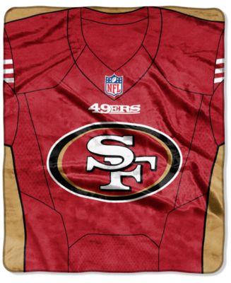 San Francisco 49ers Jersey Plush Raschel Throw