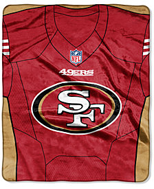 Northwest Company San Francisco 49ers Jersey Plush Raschel Throw