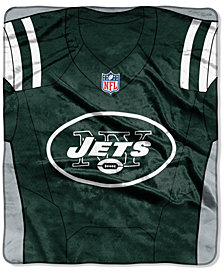 Northwest Company New York Jets Jersey Plush Raschel Throw