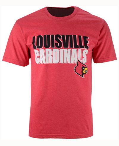 Colosseum Men's Louisville Cardinals Wordmark Stack T-Shirt