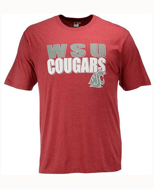 Colosseum Men's Washington State Cougars Wordmark Stack T-Shirt