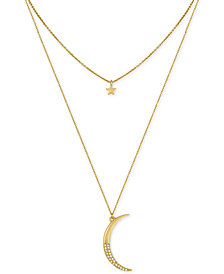 RACHEL Rachel Roy Gold-Tone Moon and Star Layer Pendant Necklace
