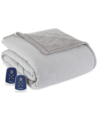 Reversible Micro Flannel® to Sherpa Full Heated Blanket