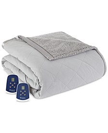 Reversible Micro Flannel® to Sherpa Full Electric Blanket
