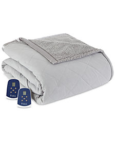 Shavel Reversible Micro Flannel® to Fleece King Heated Blanket