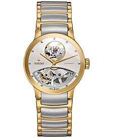 Women's Swiss Automatic Centrix Two-Tone PVD Stainless Steel Bracelet Watch 33mm R30246013