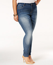 Poetic Justice Trendy Plus Size Meduim Blue Wash Skinny Jeans