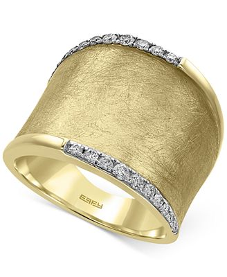 D Oro By Effy Diamond Wide Band 1 4 Ct T W