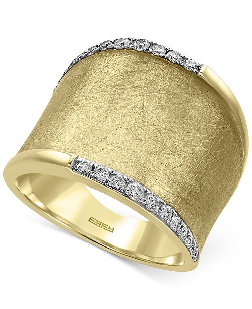 EFFY Collection D'Oro by EFFY® Diamond Wide Band (1/4 ct. t.w.) in 14k Gold