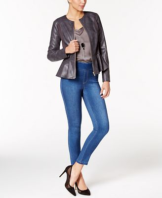Thalia Sodi Faux-Leather Jacket, Necklace Top & Jeggings, Only at Macy's