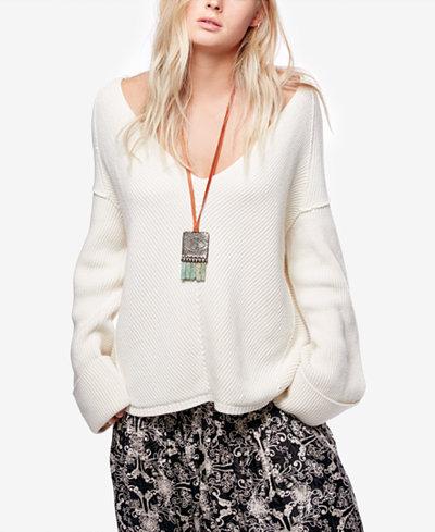 Free People La Brea V-Neck Sweater