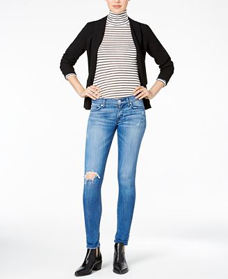Hudson Jeans Tally Ripped Encounter Wash Skinny Jeans