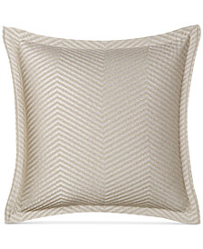 "CLOSEOUT! Hotel Collection  Woven Accent 18"" Square Decorative Pillow, Created for Macy's"