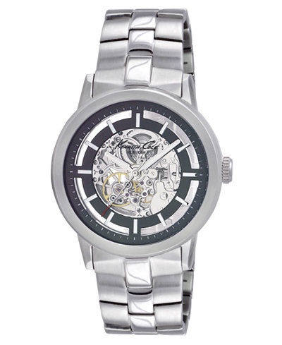 kenneth cole watch men s automatic skeleton stainless steel kenneth cole watch men s automatic skeleton stainless steel bracelet kc3925