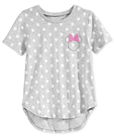 Disney's� Minnie Mouse Polka-Dot Graphic T-Shirt, Big Girls (7-16)