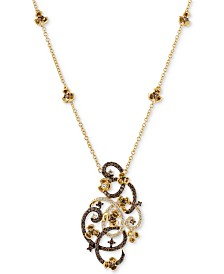 Le Vian Chocolatier® Diamond Pendant Necklace (1-1/3 ct. t.w.) in 14k Gold