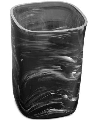 Murano Black Wastebasket