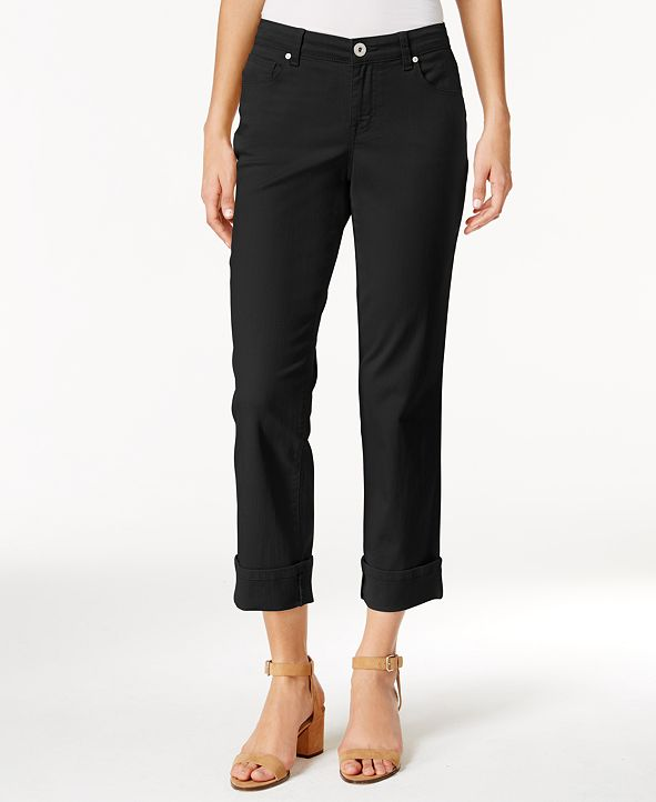 Style & Co Curvy Cuffed Capri Jeans, Created for Macy's
