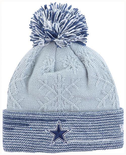 New Era Women s Dallas Cowboys Snow Crown Redux Knit Hat - Sports ... 53f938d4eed