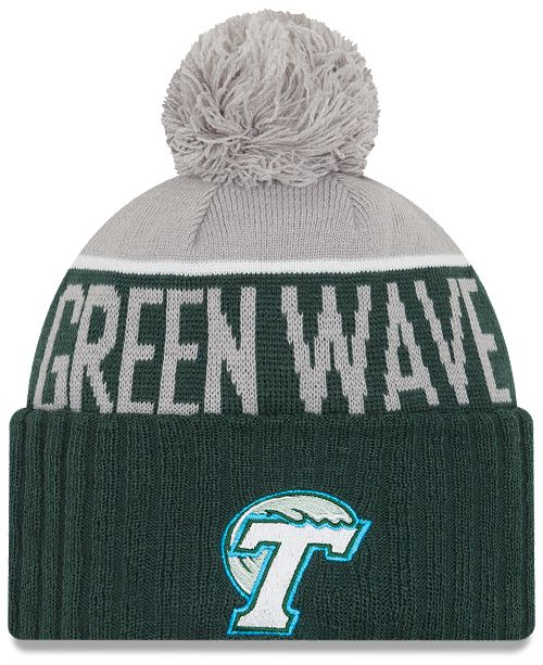 buy online dff90 6ca3c ... czech new era tulane green wave sport knit hat 70adc ad151