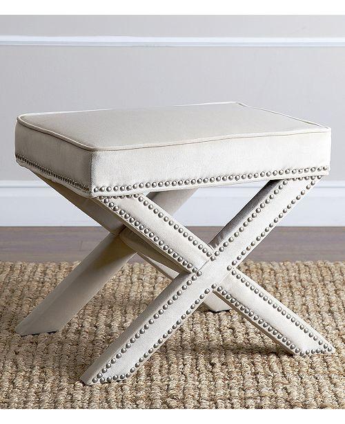 Miraculous Ganet Nailhead Trim Ottoman Bench Quick Ship Theyellowbook Wood Chair Design Ideas Theyellowbookinfo