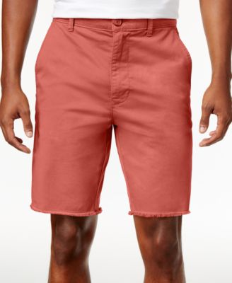 Image of American Rag Men's Raw Edge Twill Chino Shorts, Created for Macy's