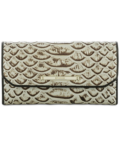 Brahmin Dogwood Soft Checkbook Wallet Handbags