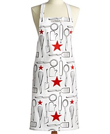 Cotton Printed Apron, Created for Macy's