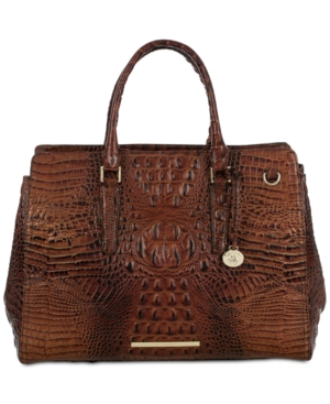 Image of Brahmin Finley Carryall Melbourne Embossed Leather Tote