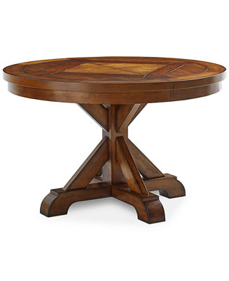 Furniture Mandara Round Expandable Dining Trestle Table