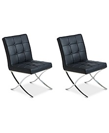 Kalem Set of 2 Leather Side Chairs