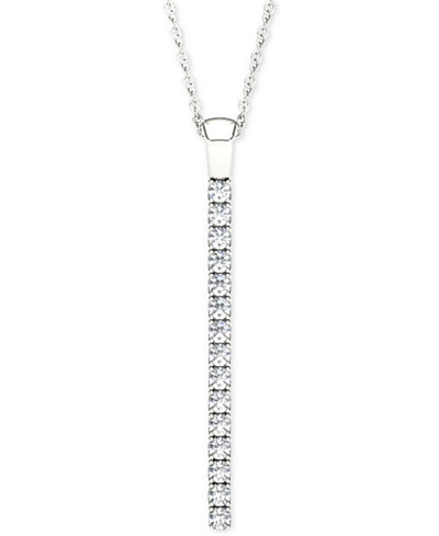 Line of love diamond pendant necklace 1 ct tw in 14k white line of love diamond pendant necklace 1 ct tw in 14k white gold aloadofball Images