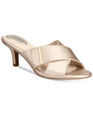 Image of Alfani Women's Step 'N Flex Larrk Kitten-Heel Slip-On Sandals, Only at Macy's